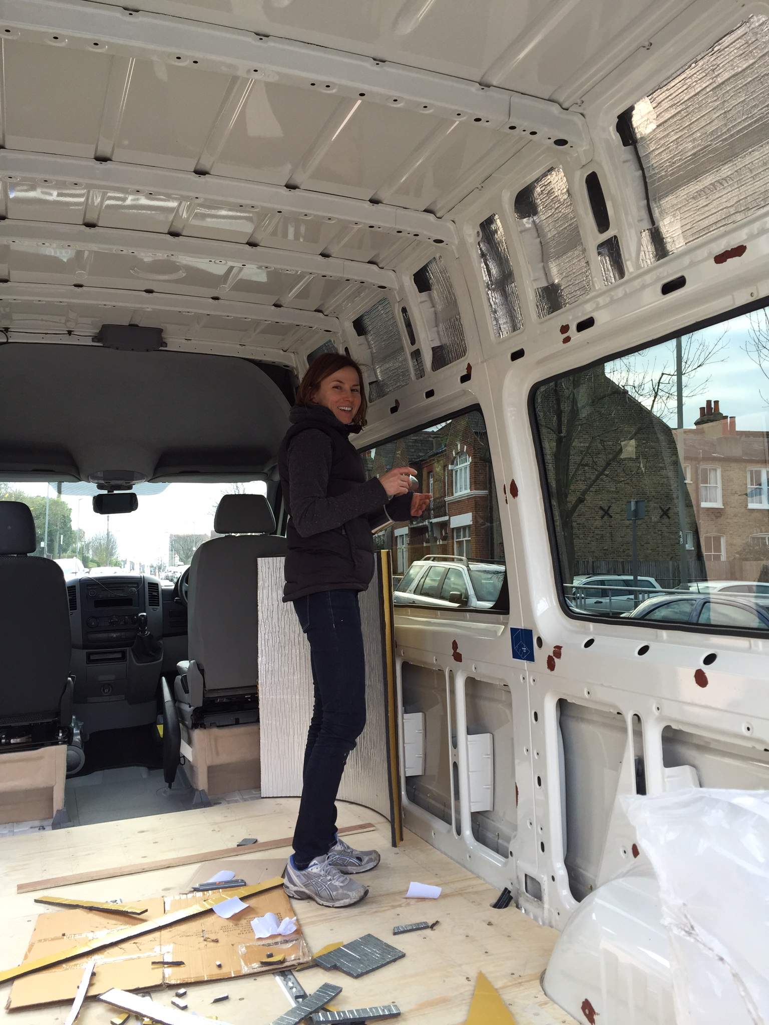 Self-build motorhome conversion of our Volkswagen Crafter