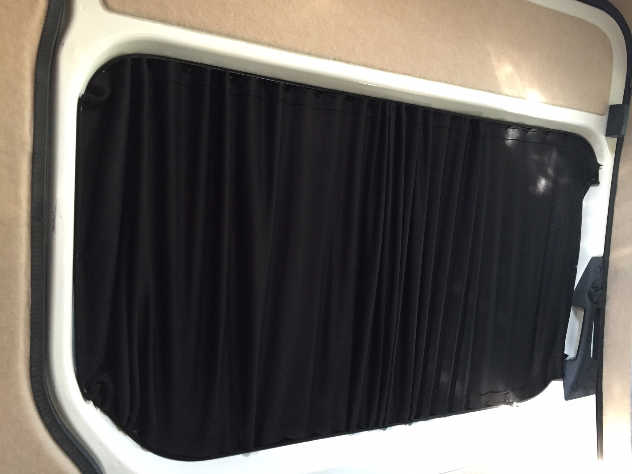 Sliding door window curtain
