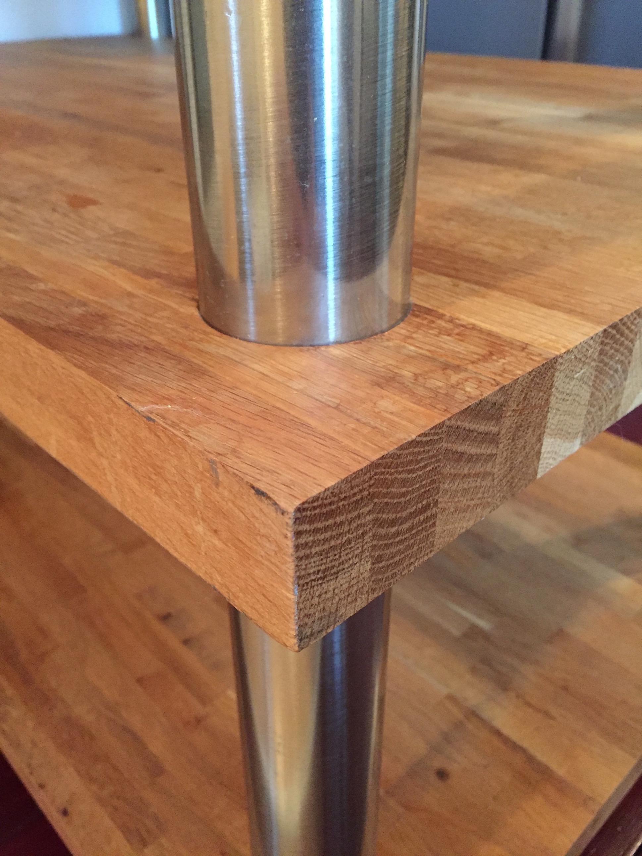 Kitchen Island Close Up three tier kitchen island oak bench